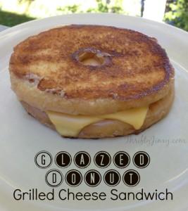 Glazed Donut Grilled Cheese Sandwich