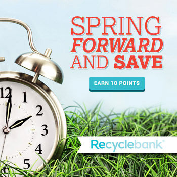 10 Free Recyclebank Points for Daylight Saving Time
