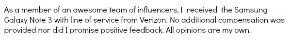 Verizon Disclosure