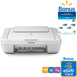 Canon PIXMA All-In-One Printer + Paper and $10 Gift Card only $39 Shipped!