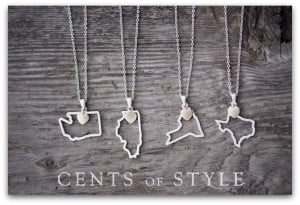 State Necklaces Only 2 for $15 with FREE Shipping – Final Blowout!
