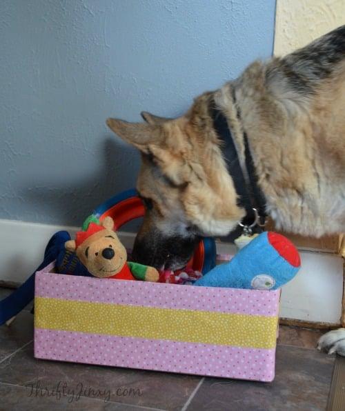 duck fabric toy box