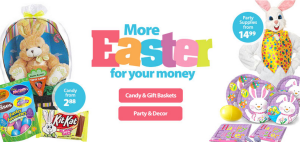 Easter Baskets, Candy and Party Supplies Starting at $1.99 from Walmart!