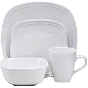 walmart white dinnerware set