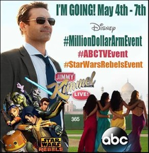 I'm Headed to L.A. for the #MillionDollarArmEvent #StarWarsRebelsEvent and #ABCTVEvent