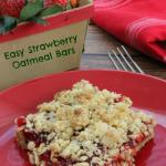 Easy Strawberry Oatmeal Bars Recipe