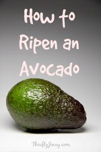 How to Ripen an Avocado