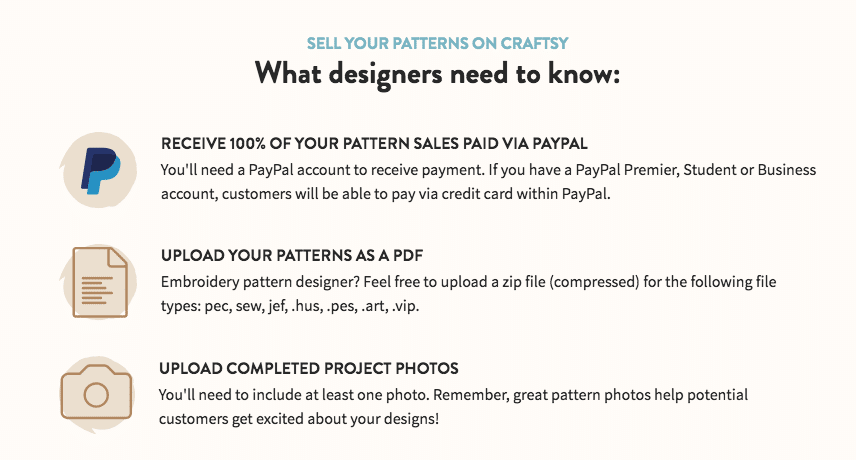 Sell Craft Patterns on Craftsy
