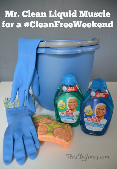 Enjoy a #CleanFreeWeekend with Mr. Clean Liquid Muscle + Reader Giveaway