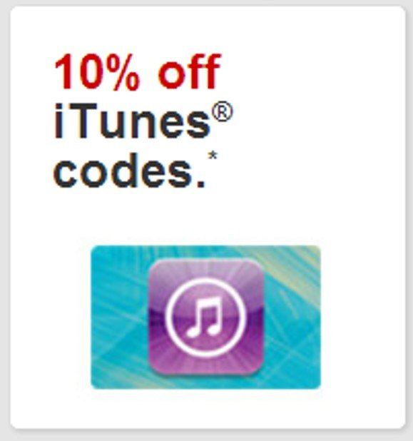 Save 10% on iTunes eGift Cards from Target!