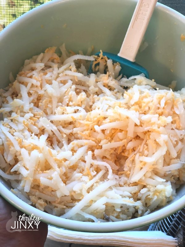 Hashbrown Potates, Butter and Cheese Mixture