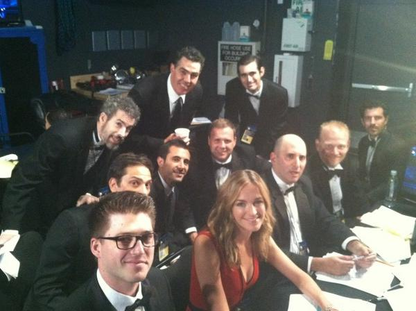 Jimmy Kimmel Live! Co-head writer Molly McNearney and the other Jimmy Kimmel Live! writers