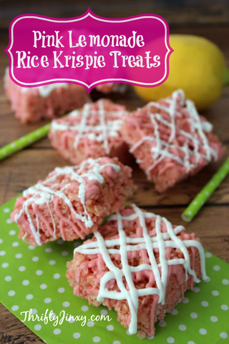 Pink Lemonade Rice Krispie Treats Recipe