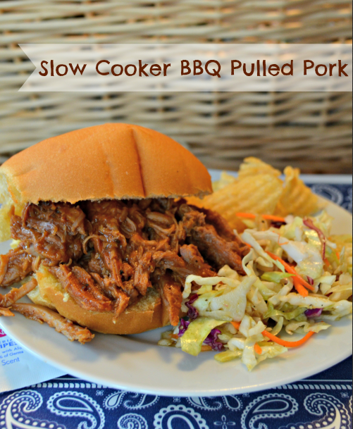 Slow Cooker BBQ Pulled Pork Recipe with Easy Clean-Up from Wet-Nap