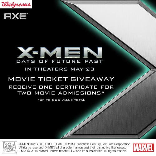 X-Men: Days of Future Past Ticket Giveaway – 3 Winners Courtesy of AXE