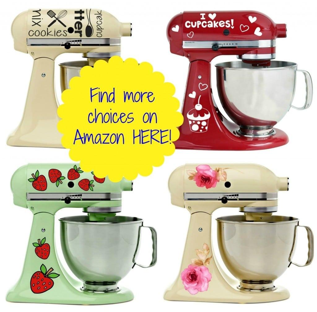 Kitchen Mixer Decals ~ Adorable vinyl decals for kitchenaid mixers only