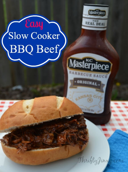 Easy Slow Cooker Barbecue Beef Recipe
