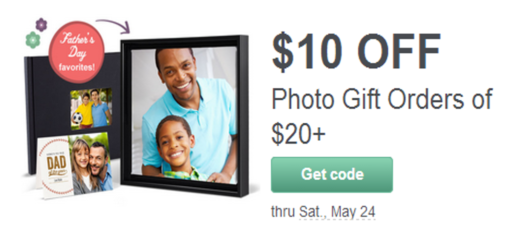 $10 Off $20 Photo Purchase from Walgreens – Great Father's Day Gifts!