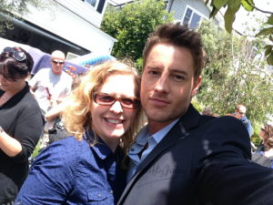 On Location with Mistresses' Jes Macallan and Justin Hartley