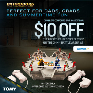 Battroborg Battling Robots Game – A Fun Gift for Dads and Grads – $10 Off Coupon!