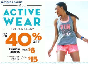 All Old Navy Active Wear 40% Off – Starting at $8!