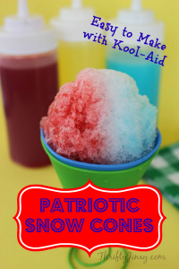 Patriotic Snow Cones Recipe – Easy and Inexpensive!