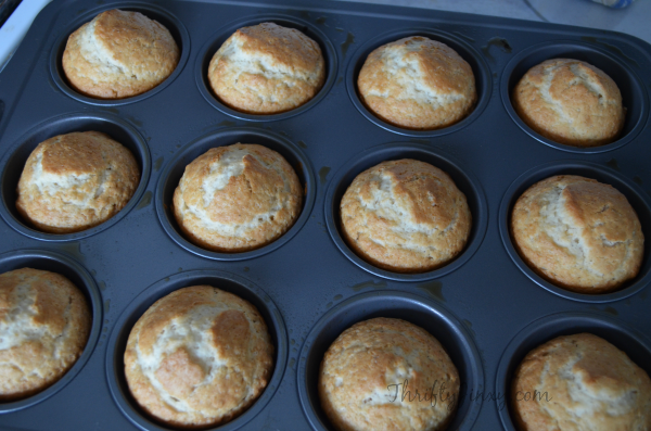 Tastefully SImple Cinnamon Muffin Melt Mix Out of Oven