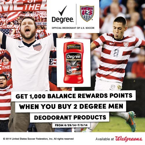 Celebrate the US World Cup Team – Special Degree & Walgreens Offer