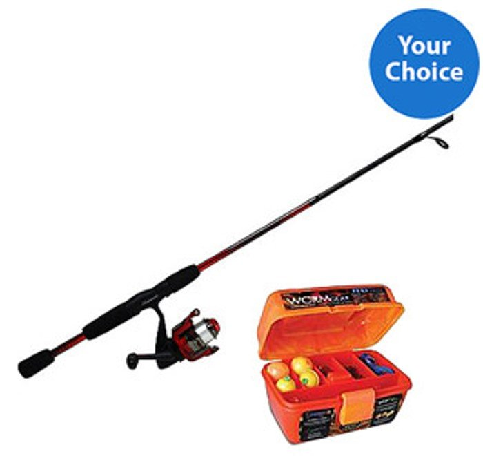 fishing pole and tackle box bundle only shipped