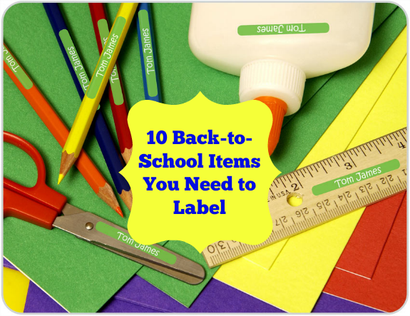 10 Back-to-School Items You Need to Label + a Bright Star Kids Discount