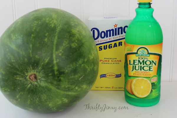 Easy Watermelon Sorbet Recipe Ingredients