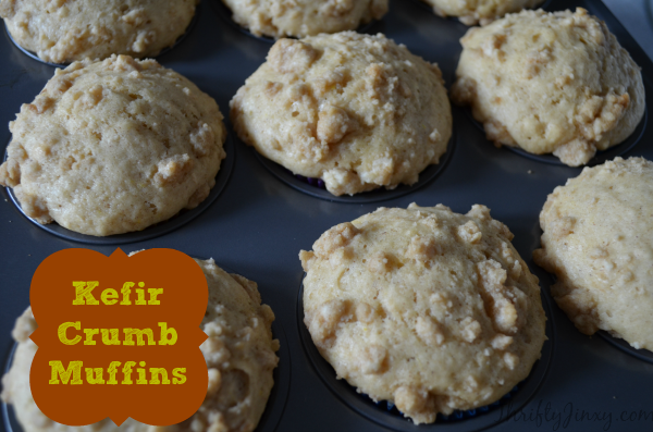Kefir Crumb Muffins Recipe for Breakfast On the Go - Thrifty Jinxy