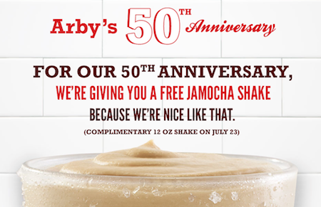 FREE Jamocha Shake at Arby's on July 23rd - Thrifty Jinxy