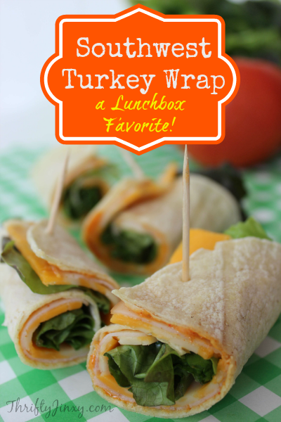Southwest Turkey Wrap Recipe for School Lunch or Work!