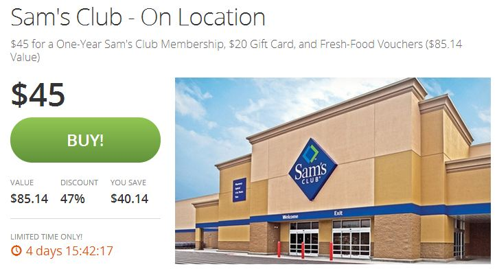 groupon sames club