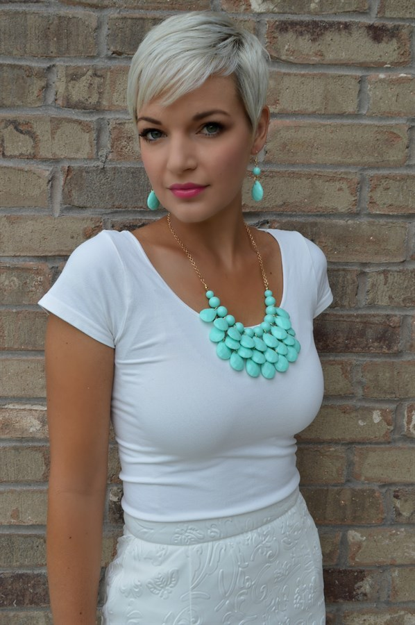 jane teardrop necklace set