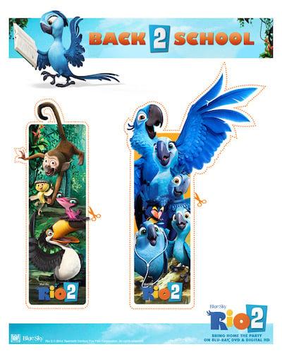 Rio 2 Bookmarks