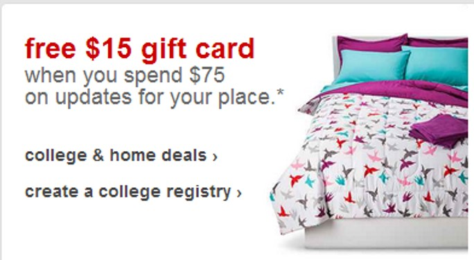 15 Target Gift Card With 75 Home Decor Bath Or Bedding Purchase