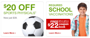 Vaccinations & Sports Physicals from MinuteClinic – Be Prepared for Back-to-School