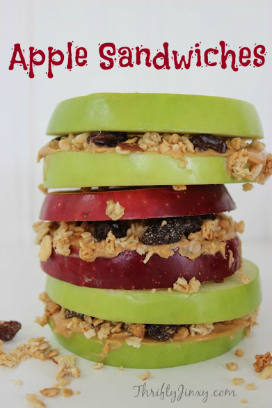 Apple Sandwiches Recipe - Great After School Snack!