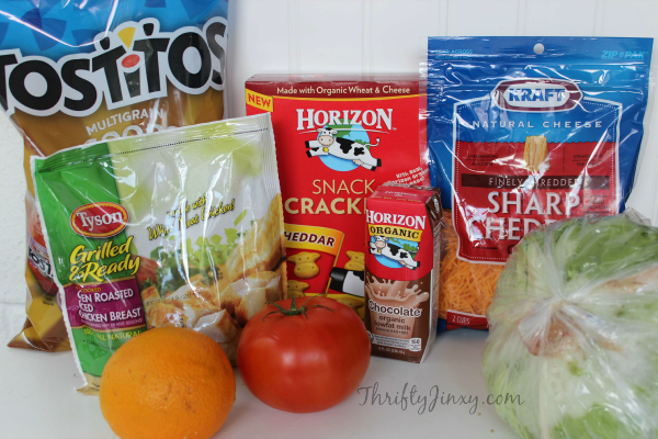 Chicken Taco Bento Box Ingredients