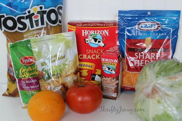 Chicken Taco Bento Box Ingredients