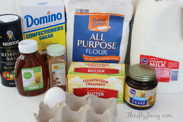 Copycat Texas Roadhouse Rolls and Honey Butter Recipe Ingredients