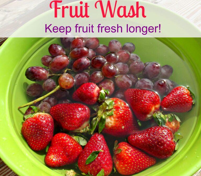 Fruit Wash - Keeps Fresh Longer