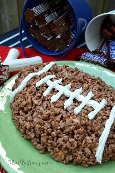 SNICKERS Rice Crispy Treat Football Recipe for Game Day