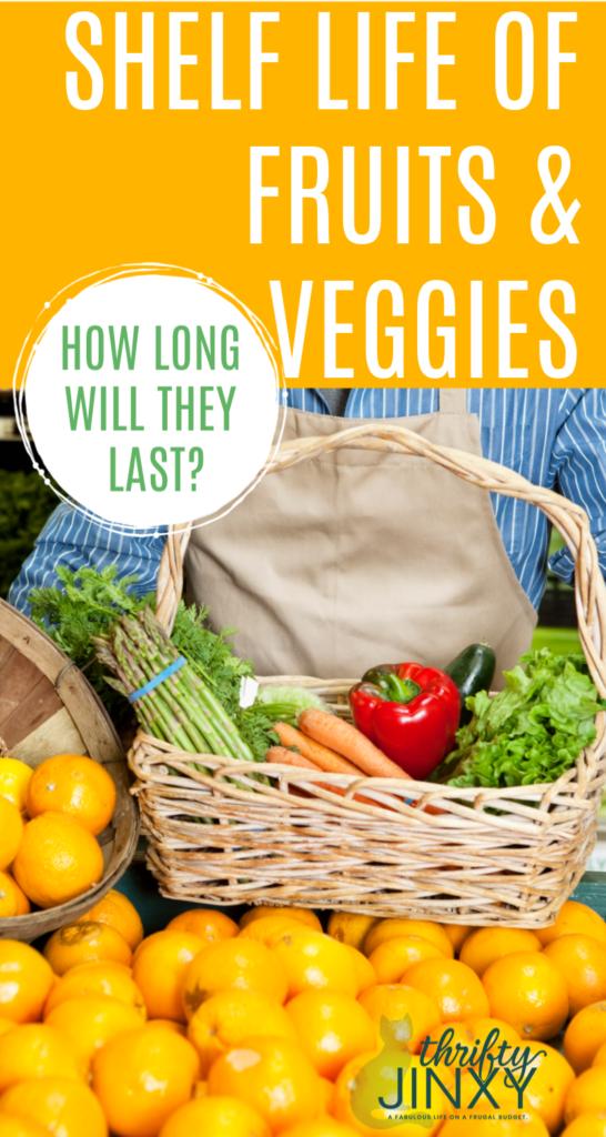 Shelf Life of Fruits and Veggies