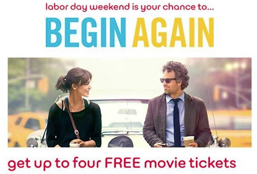 free begin again tickets