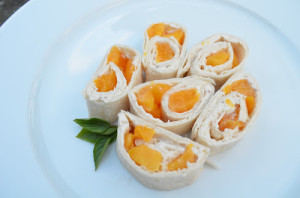 Peach Pinwheels Recipe for Back to School Snacking