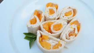 Peach Pinwheels Snack