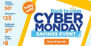 Cyber Monday Back to School Sale from Walmart – Starting at $.50!